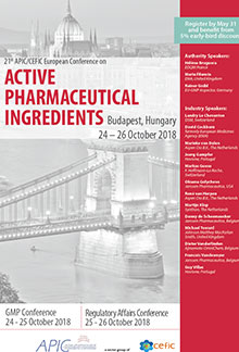 21st APIC/CEFIC European Conference on Active Pharmaceutical Ingredients (All 3 Conference Days)<br>(Im Auftrag der APIC/CEFIC)