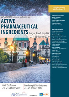 22nd APIC/CEFIC European Conference on Active Pharmaceutical Ingredients (RA Part)<br>(Im Auftrag der APIC/CEFIC)