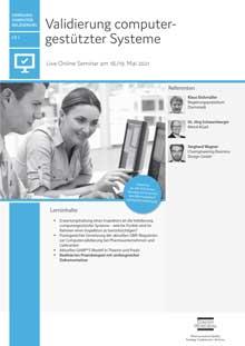 Live Online Seminar: Validierung computergestützter Systeme (CV 1)