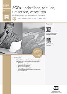 Live Online Seminar: SOPs - schreiben, schulen, umsetzen, verwalten (D 2)