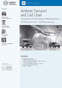 Ambient Transport and Cold Chain - Temperature controlled Transports of Medicinal Products and APIs<br>Im Auftrag der ECA Academy