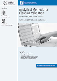 Analytical Methods for Cleaning Validation <br>Im Auftrag der ECA Academy