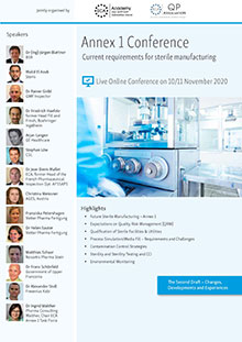 Live Online Conference:  Annex 1 - Current Requirements for sterile Manufacturing<br>Im Auftrag der ECA Academy