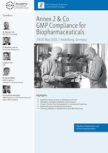 Annex 2 & Co  - GMP Compliance for BiopharmaceuticalsIm