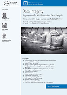 Data Integrity - Requirements for a GMP-compliant Data Life Cycle<br>Im Auftrag der ECA Academy