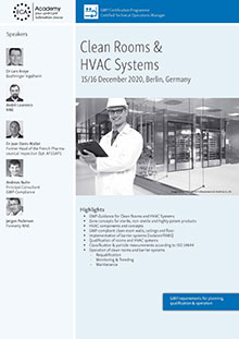 Clean Rooms & HVAC Systems - GMP requirements for planning, qualification & operation<br>Im Auftrag der ECA Academy