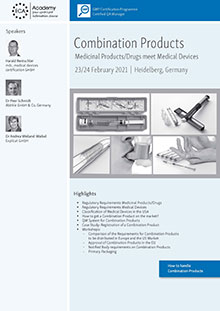 Combination Products - Medicinal Products/Drugs meet Medical Devices<br>Im Auftrag der ECA Academy