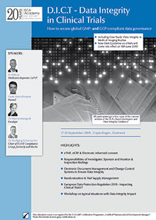 D.I.C.T. - Data Integrity in Clinical Trials<br>Im Auftrag der ECA Academy