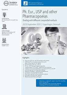 Ph. Eur., USP and other Pharmacopoeias - Dealing with different compendial methods<br>Im Auftrag der ECA Academy