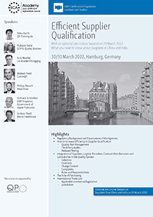 Pre-course Session: What you need to know about suppliers in China and India<br>Im Auftrag der ECA Academy