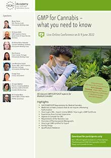 Live Online Conference: GMP for Cannabis – what you need to know<br>Im Auftrag der ECA Academy