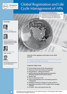 Global Registration and Life Cycle Management of APIs<br>Im Auftrag der ECA Academy