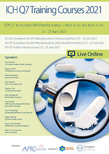 Live Online Training: ICH Q7 Compliance for APIs Manufactured by Chemical Synthesis<br>Im Auftrag der ECA Academy