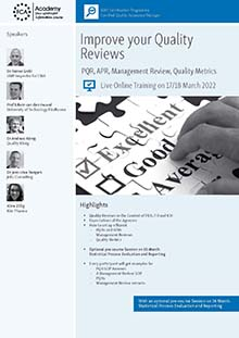 Improve your Quality Reviews<br>Im Auftrag der ECA Academy