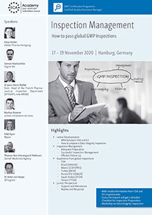 Inspection Management - How to pass global GMP InspectionsIm