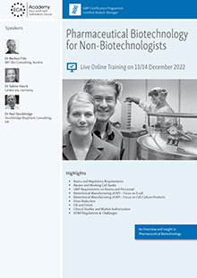 Live Online Training: Pharmaceutical Biotechnology for Non-Biotechnologists