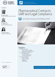 Pharmaceutical Contracts: GMP and Legal Compliance<br>Im Auftrag der ECA Academy