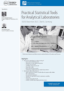 Practical Statistical Tools for Analytical Laboratories<br>Im Auftrag der ECA Academy