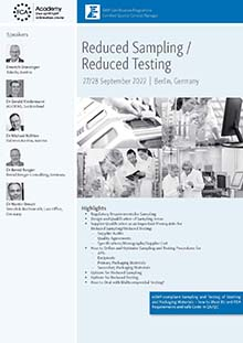 Reduced Sampling - Reduced Testing<br>Im Auftrag der ECA Academy