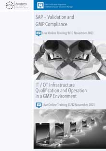 Live Online Training - SAP: Validation and GMP Compliance + IT Infrastructure Qualification and Operation<br>Im Auftrag der ECA Academy