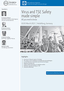 Virus and TSE Safety made simple<br>Im Auftrag der ECA Academy