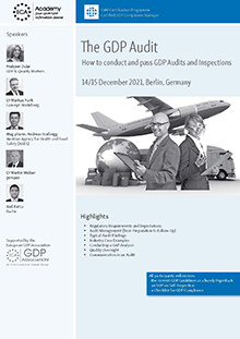 The GDP Audit - How to conduct and pass GDP Audits and Inspections<br>Im Auftrag der ECA Academy