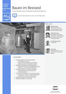 Live Online Seminar: Bauen im Bestand (PT 30)